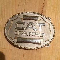Vintage Metal Caterpillar Cat Diesel Power Construction Metal Belt Buckle Photo
