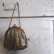 Vintage Metal Mesh Gold Change Purse Bag Whiting Davis Unique Strap 2908  Photo