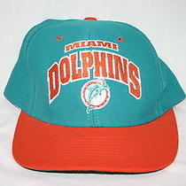 Vintage Miami Dolphins Snap Back Cap Hat American Needle Usa Photo