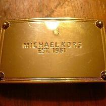 Vintage Michael Kors Ladies Metal Gold Belt Buckle Photo