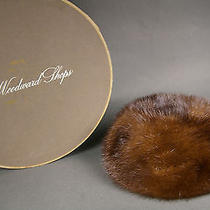 Vintage Mink Pillbox Hat With Box From Hudson's Woodward Shops Photo