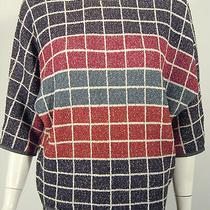 Vintage Missoni 3/4 Sleeve Mod Multi-Color Checker Board Sweater & Skirt Medium Photo