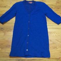 Vintage Missoni Cardigan Leopard Print Animal Blue Duster Dress Knit Wool S Boho Photo
