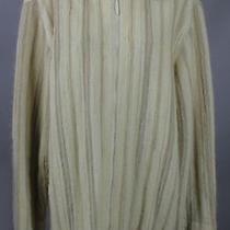 Vintage Missoni Cream Multi Striped Zip Up Cardigan Sweater Top Jacket M Photo