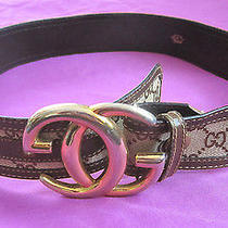 Vintage Monogram Gucci Belt Brown Made in Italy Photo