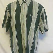 Vintage Monsieur Givenchy Button Front Shirt Mens Xl Green High End Designer Photo