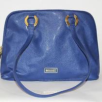 Vintage Moschino by Redwall Royal Blue Shoulder Bag Vegan  Rare Photo