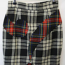 Vintage Moschino Cheap & Chic Tartan Bold Skirt Retro Made in Italy Photo