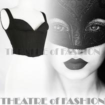 Vintage Moschino Corset Bustier Bra Top 6 8 10 12 Goth Victorian Noir Vamp Diva  Photo