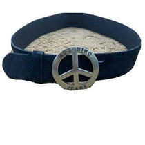 Vintage Moschino Jeans Black Suede Belt Size 73/xs Photo