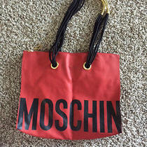 Vintage Moschino Red Tote  Photo