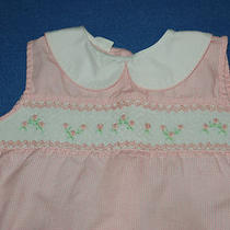 Vintage Mother Goose Smocked Cotton Girls Size 6y Shorts Shirt Set Pink Gingham Photo