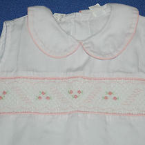 Vintage Mother Goose Smocked Cotton Girls Size 6y Shorts Shirt Set Pink & White Photo