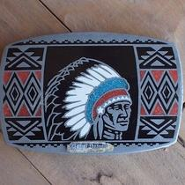 Vintage Native American Belt Buckle Genuine Turquoise Albuquerque Usa 1984 Photo