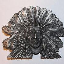 Vintage Native American Chief Indian Head Belt Buckle by Imo Photo