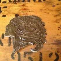 Vintage Native American Indian Chief Belt Buckle Photo