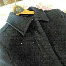 Vintage Navy Blue Light Wool Coat - French Connection Photo