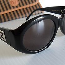 Vintage New Never Worn 1990's Fendi Sl 7518 'Jackie O.' Sunglasses Black Silver Photo