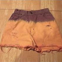 Vintage Newport News Ombre Pastel High Waisted Shorts Urban Outfitters Photo