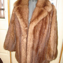 Vintage Nice Custom Made Natural Fur Color Medium Brown Jacket Size Small Photo