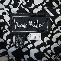 Vintage Nicole Miller Black and White Dress 8 Photo