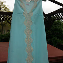 Vintage Nightgown Emilio Pucci for Formfit Rogers Gown Antique Lace Aqua Photo