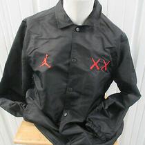 Vintage Nike Jordan Brand X Kaws Sewn Black Xl Coaches Jacket New W/ Tags 2017  Photo