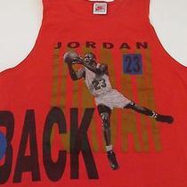 Vintage Nike Michael Jordan Scottie Pippen L Tank Top Back 2 Back Made in Usa Photo