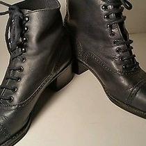 Vintage Nine West Granny Grunge Women Boots Size 7.5 Photo