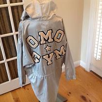 Vintage Norma Kamali Hooded Omo Gym Silver Jacket  Coat Very Rare and Unique Photo