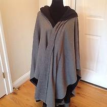 Vintage Norma Kamali Hooded Poncho Double Cape Coat Very Rare and Unique Photo