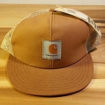 Vintage Nos Carhartt 80's 90's Hat Cap Canvas Mesh Trucker Hunting Work Snapback Photo