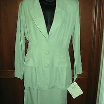 Vintage Nos New  Rampage Green  Two Piece Suit Skirt Jacket Blazer 80's 90's Photo