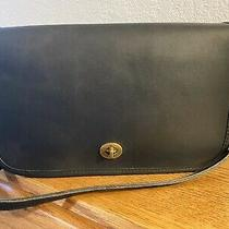 Vintage Nyc Coach Dark Navy Blue Convertible Clutch Shoulder Bag 9635 Photo