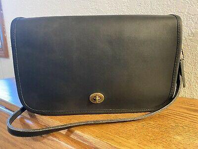 Vintage NYC Coach Dark Navy Blue Convertible Clutch Shoulder Bag 9635 Photo