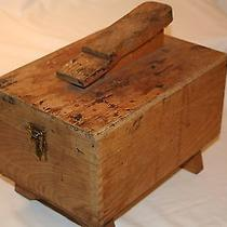 Vintage Oak Shoe Shine Box Photo