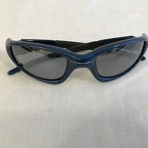 Vintage Oakley Straight Jacket Blue Sunglasses With Smoky Gray Lenses Photo