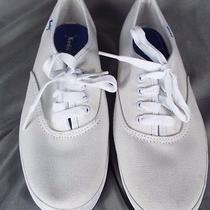 Vintage Old Fashioned Keds White Tennis Shoes Gum Sole Size 6 M Photo