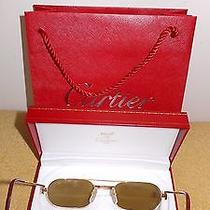 Vintage Original Cartier  Sunglasses  in the Original Must De Cartier Box Bag  Photo