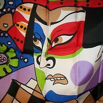 Vintage Oscar De La Renta Samuri / Kabuki  Silk Scarf 31