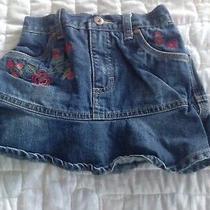 Vintage Oshkosh Denim Skirt Girls Size 4t Photo