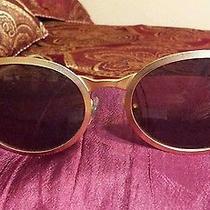 Vintage Oval Gold Frame Liz Claiborne  Sunglasses Vogue Very Cool Photo