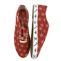 Vintage Pacific Express Zippy Snowflake Womens Flats Size 7.5 Red Candy Cane New Photo