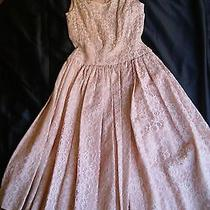 Vintage Party Dress Blush Pink Size 5 Prom Lace Satin Photo