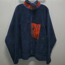 Vintage Patagonia Retro X Deep Pile Fleece Jacket Men's Xxl Rare Navy/ Mango Photo