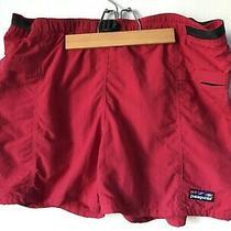 Vintage Patagonia Wave Logo Baggies Red River Shorts Size Large Photo