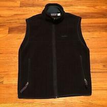 Vintage Patagonia Women Full Zip Synchilla Fleece Vest - Black - Small Photo