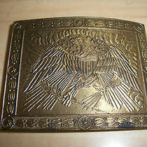 Vintage Patriotic American Eagle Solid Belt Buckle  Photo