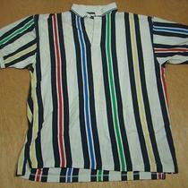 Vintage Payne Stewart Golf Polo Stripe Men's Shirt-100% Cotton-Xxl Photo