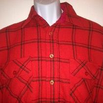 Vintage Penfield Trailwear Men's Large Wool Flannel Shirt Red Black Plaid  Photo